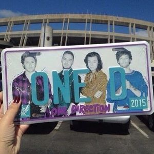 One Direction License Plate